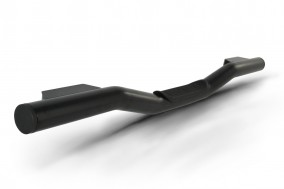 AC-418-B single rear nudge bar with black powder coat